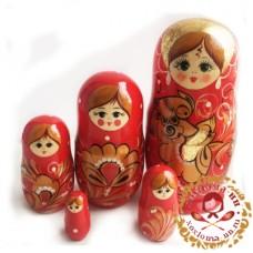 "Матрешка ""Жар птица"" 5 кукольная"